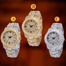 TOPGRILLZ אייס מתוך בגט שעון קוורץ זהב היפ הופ יד שעונים עם מיקרו פייב CZ נירוסטה צמיד שעון שעות