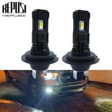 цена на 2pcs H7 LED Bulb Car Fog Lights Auto Lamp Running Lamp 12V 24V White 6000K DC 12V 24V Auto Led H7 Bulb
