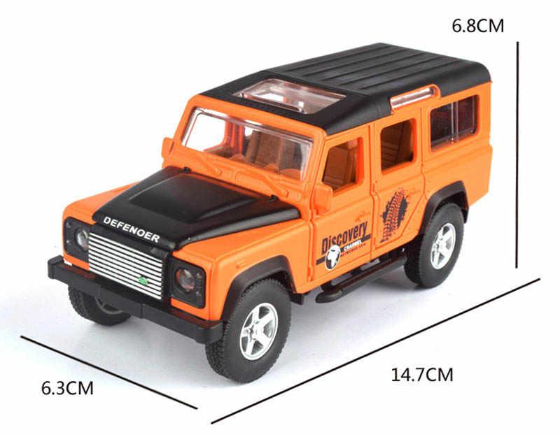 1/32 Simulasi Tanah Defender Jeep Alloy Model Mainan Mobil Die Cast Pengecoran Logam Off Road Tarik Kembali Suara Cahaya Mainan mobil