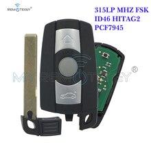 Remtekey car key 3 button KR55WK49127 315LP MHZ Smart Key Fob for BMW 3 5 series X1 X5 X6 Z4 2006 2007 2008 2009 2010 2011 315 433 868 mhz smart remote key 4 buttons for bmw 3 5 7 series cas4 system 2009 2010 2011 2012 2013 2014 2015 2016 kr55wk49863