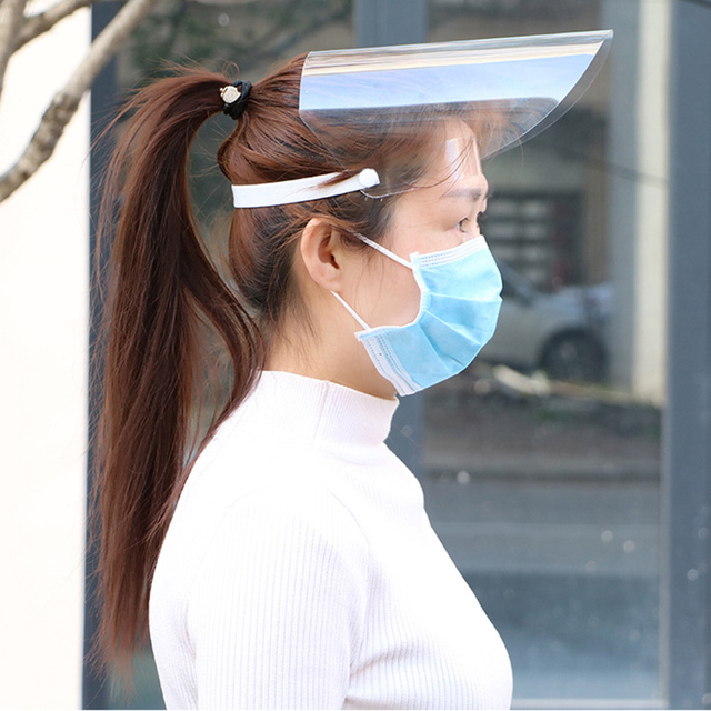 30pcs Protective Facial Mask Full Face Shield Covering Mask Transparent Anti Droplet Saliva Dust-proof Protection Anti-fog Visor 1
