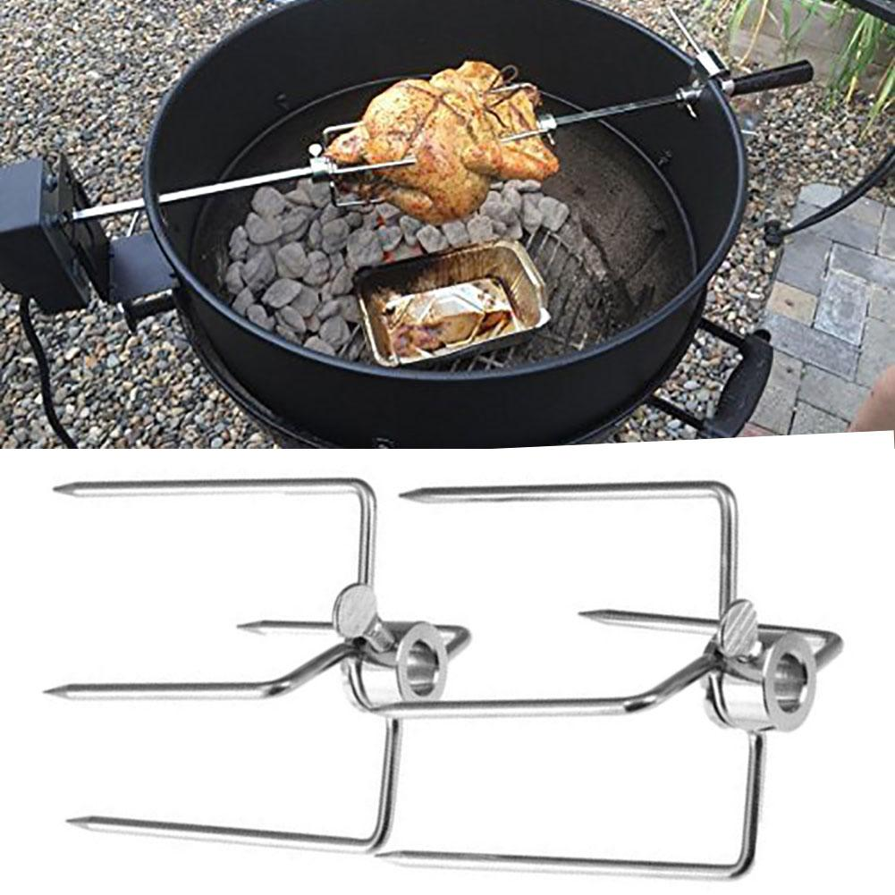 Stainless Steel BBQ Rotisserie Grill Kit Oven Kebab Cage Rotisserie Tool Durable