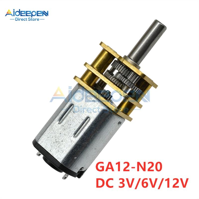 GA12-N20 30-1000RPM Miniature Metal Electric 6v 12v DC Gear Motor Gearwheel US