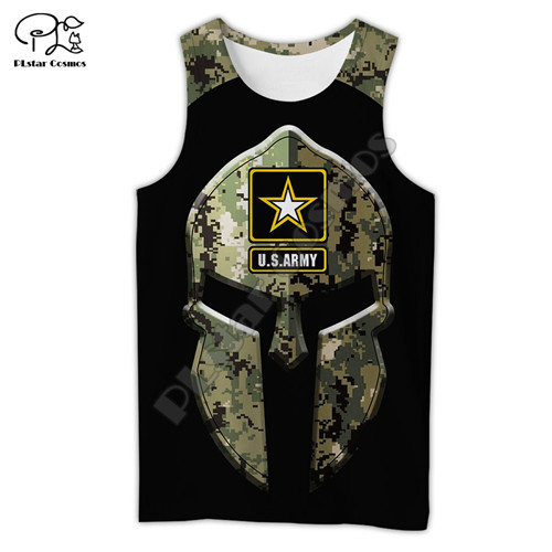 PLstar Cosmos Newest US Military Marine Army suit Soldier Camo 3Dprint Summer Man's Top Streetwear Casual Funny Tank-top Vest A1