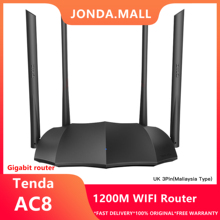 Tenda AC8 AC1200M Wireless WiFi Router Support IPV6 Home Coverage Dual Band Wireless Router,App Control tenda wireless wifi router ac5 dual band 1167mbps wifi repeater 2 4ghz 5 0ghz smart app manage english firmware