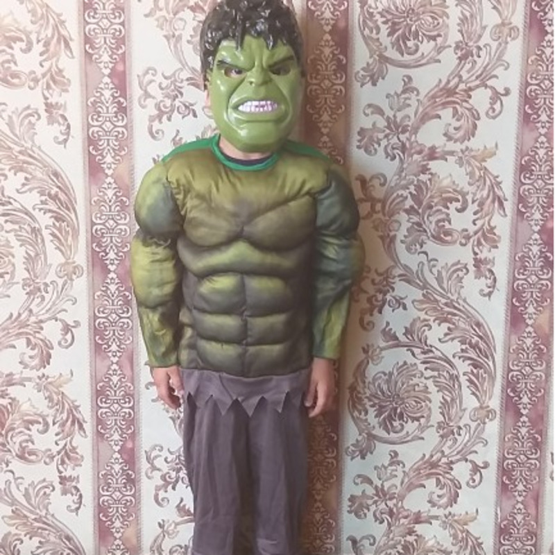 Hulk Plush Eye Mask Marvel Superhero Dress Up Halloween Child Costume Accessory