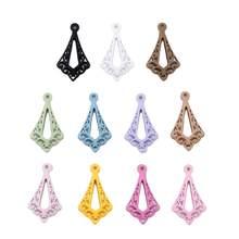 12 штук DIY 5*17*30 мм цветная Подвеска для восстановления древнего метода полые каплевидные покрышки ожерелье серьги аксессуары