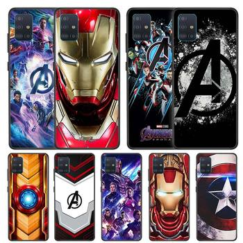 Marvel Superheroes The Avengers Case for Samsung Galaxy A51 A71 5G A91 A21 A01 A11 A31 A41 M51 M21 M31 M11 Black TPU Phone Cover