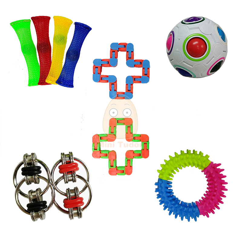 Fidget Toy Funny Anti Stress Sensory Autism Anxiety Relief Plastic Cute Strings Mesh Antistress Kit Toys For Adult Childrens img2