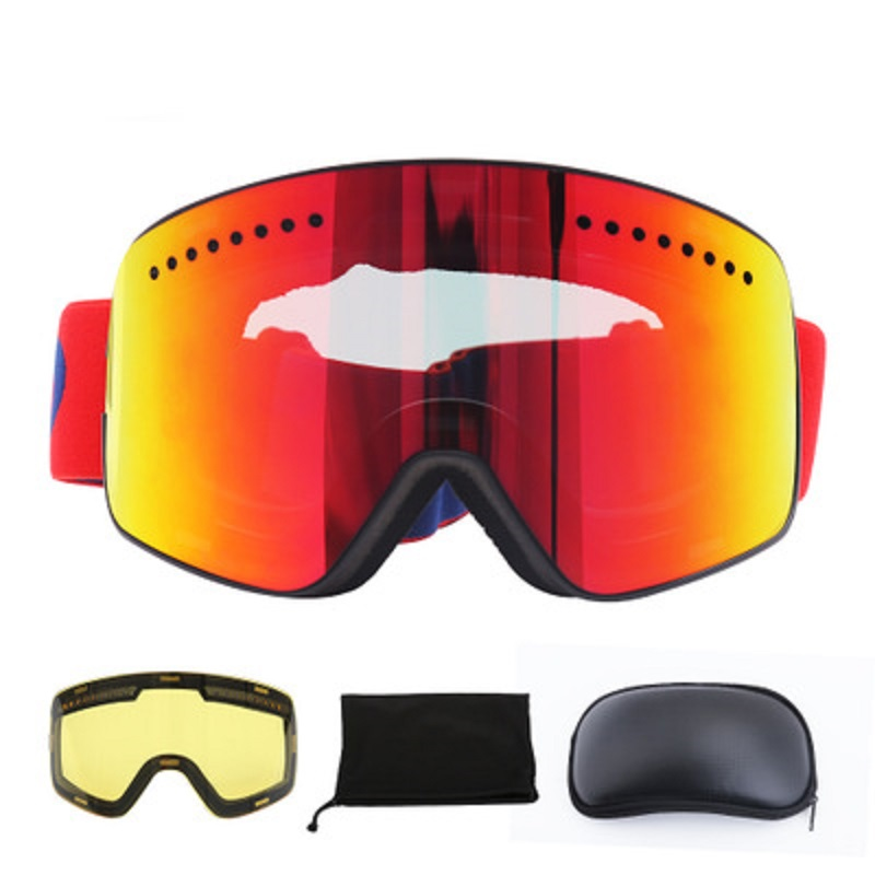 Lunettes de Ski Anti-buée vent Anti-UV lunettes de Ski Ski unisexe neige Snowboard lunettes hommes et femmes lunettes