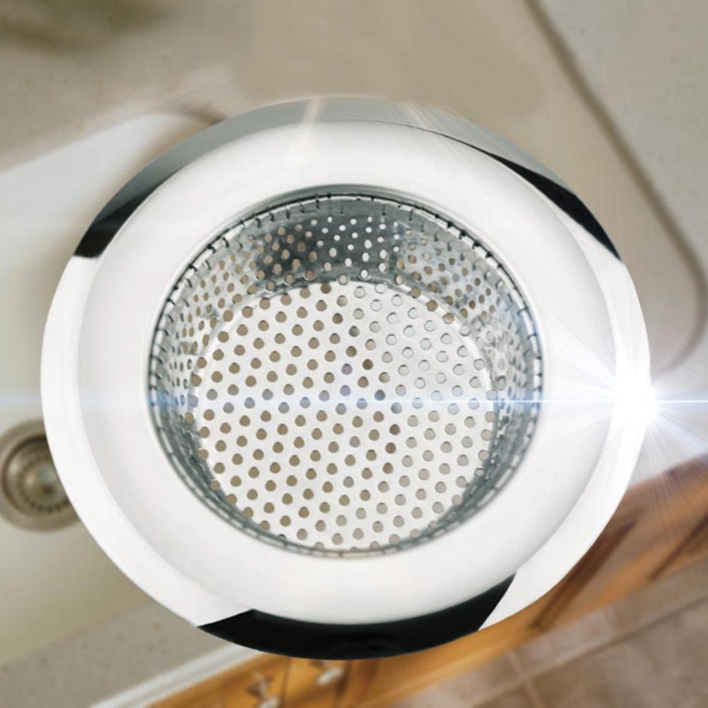 Kitchen Bathroom Sink Sewer Strainer Filter Net Floor Drain Stopper Bath Catcher Stainless Steel Kitchen Sink Filter