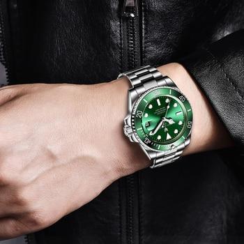 2021 LIGE New Watch Men Automatic Mechanical Tourbillon Clock Fashion Sport Diving Watch 100ATM Waterproof Luminous Watches Mens 4