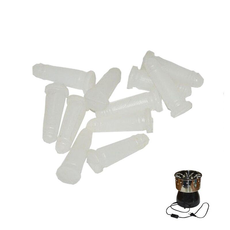 100 шт. мини птицы Набравшись Пальцы удаления волос клей-карандаш перепелиное яйцо-плюккерово из говяжьих сухожилий; Материал кукурузы стерж...