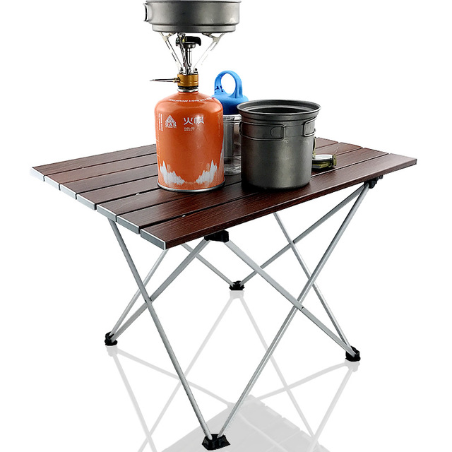 Portable Table Foldable Folding Camping Hiking Desk Table Traveling Aluminium Alloy New Sliver Coffee Camping Table