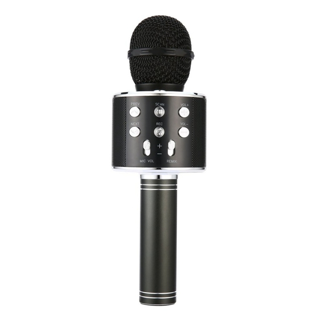 New Portable Wireless Microphone Bluetooth Karaoke Home Mic Stereo Speaker Player USB Studio KTV Music Online