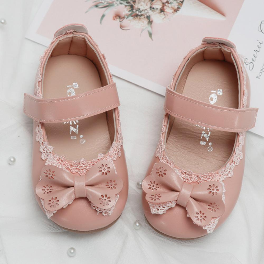 Toddler Kids Baby Girls Solid BowKnot Single Princess Leather Shoes Infant Spring Autumn Lovely Footwear First Walkers Shoes