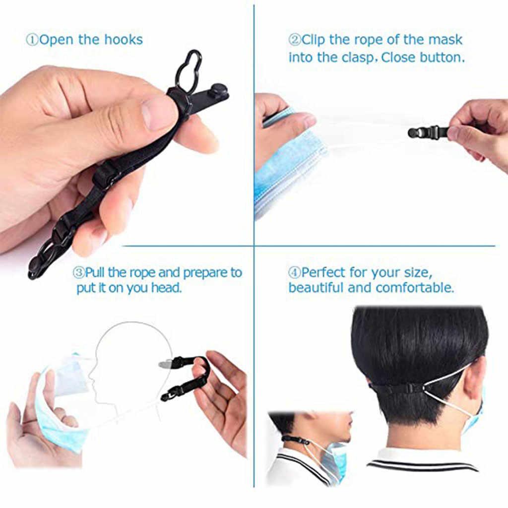 10Pc Verstelbare Masker Extension Bandage Masker Haak Oor Touw Unisex Masker Uitbreiding Riem Verlicht Oor Pijn Preventie Masker Lanyard