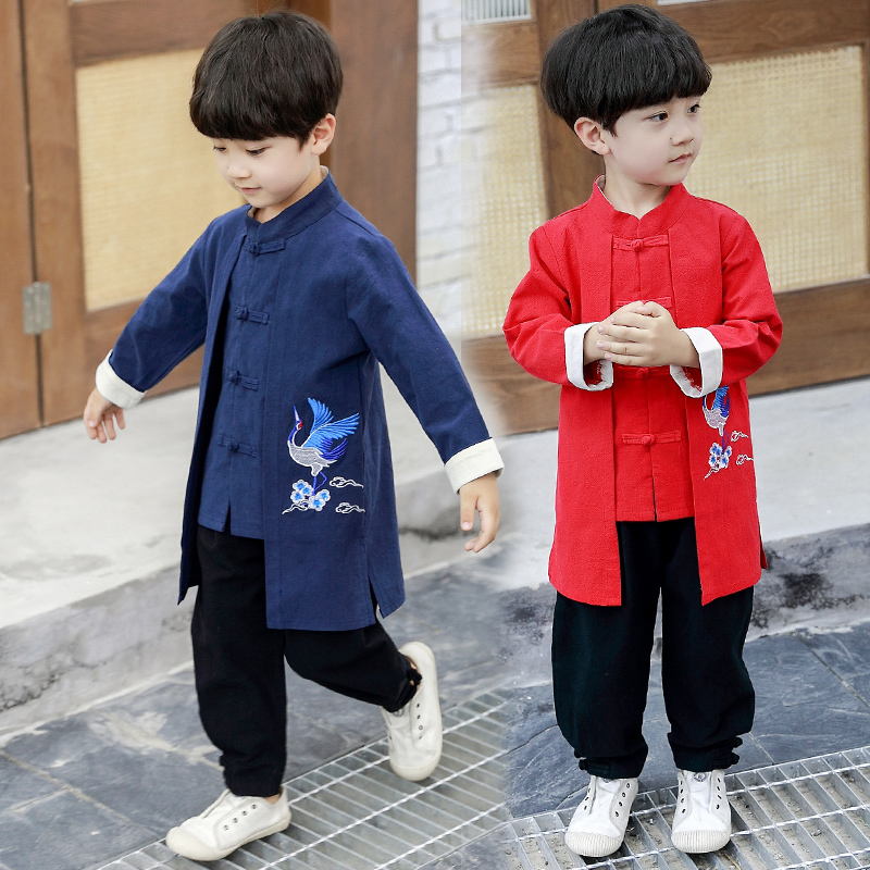 2019 Chinese Style Children Kids Hanfu Tangsuit Martial Arts Sets Chinese Kung Fu Wushu Sets Embroidery Clothing For Girls Boys