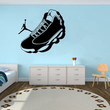 Football Sneakers Wall Stickers Football Player Vinyl Wall Decals Football Sports Club Decoration Home Artwork LW788 messi football player wall sticker fc football club player home decoration vinyl art design decor sports decals ornament w177