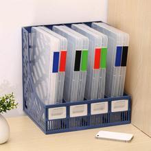 Прозрачная коробка для хранения, прозрачный пластиковый бумажный чехол для документов, А4, коробка для файлов