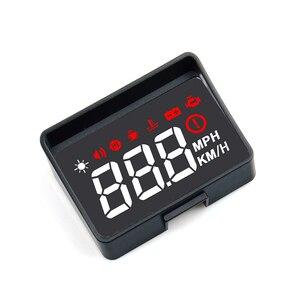 Image 2 - Проектор на лобовое стекло A100S, универсальная интеллектуальная система сигнализации с дисплеем, предупреПредупреждение о превышении скорости, OBD2