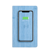 Custom Logo A6 Mini Journal Notepad fashion Wireless Charger Planner with Power Bank Hardcover Notebook