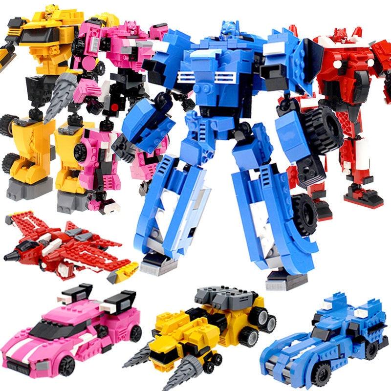 Mini Agent Team X Assembly Fit Deformation MiniForce Mech Puzzle Large Particles Toys Child Boy Small Particle Deformation Robot