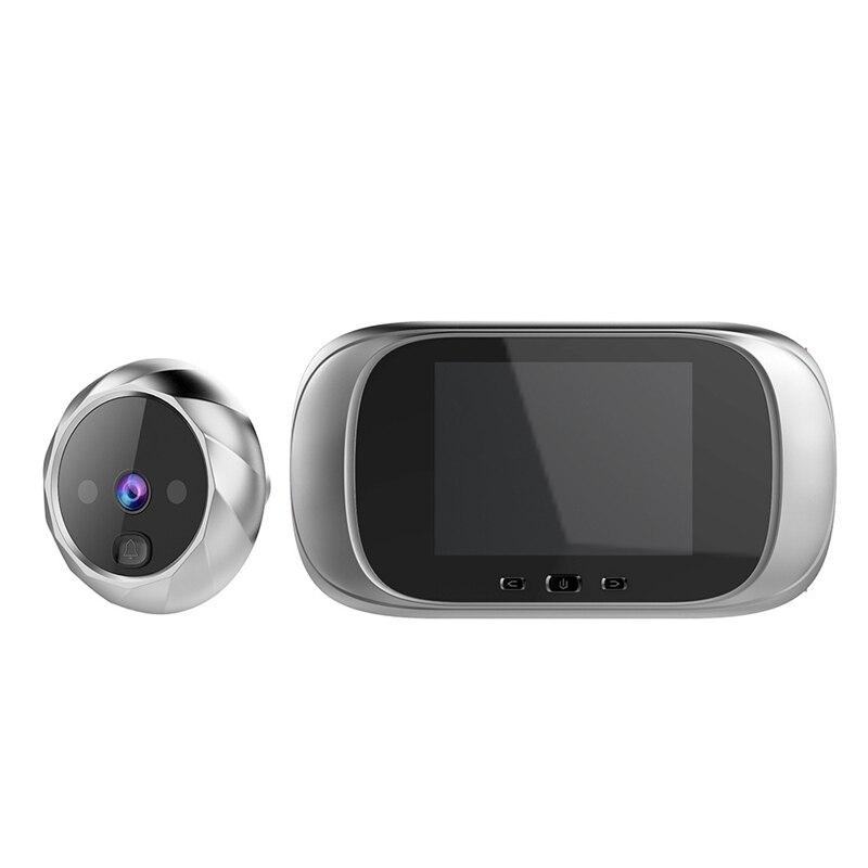 Digital Doorbell Viewer 2.8Inch LED Screen 90 Degree Electronic Peephole Door Viewer