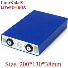 Liitokala 3.2 v 90ah bateria lifepo4 ferro de lítio fósforo grande capacidade 90000 mah baterias do motor carro elétrico da motocicleta