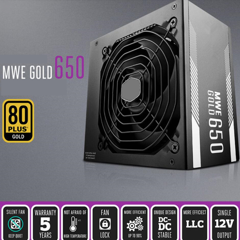 Image 4 - New PSU For Cooler Master Brand MWE GOLD 650 Full Module ATX RTX2080 Game Host Power Supply 650W Power Supply MPY 6501 AFAAGPC Power Supplies   -