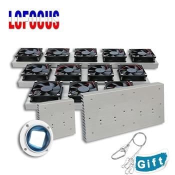 цена на 10W 20W 30W 50W 100W LED Aluminum Heatsink Radiator With Fan Lamp radiators heat sink cooling For DIY led Grow Aquarium Light