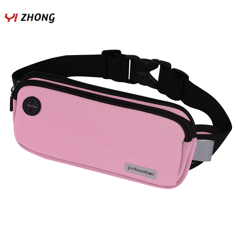 Unisex Fanny Pack For Headphone Plug Phone Reflective Sport Waist Band Bag Pack For Fitness Jogging Marathon Waterproof Bags