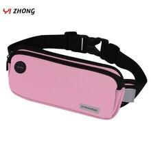 Унисекс поясную сумку для наушников разъем телефона светоотражающие Спорт талии сумка фитнес бег марафон водонепроницаемые сумки
