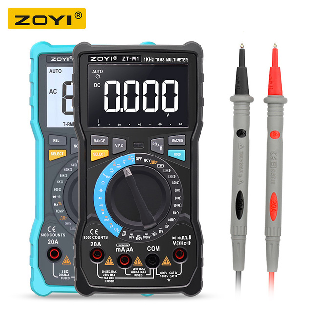 ZOYI ZT M1 ZT M0 Dual mode true RMS digital multimeter AC and DC voltage current temperature frequency better than ZT X RM409B