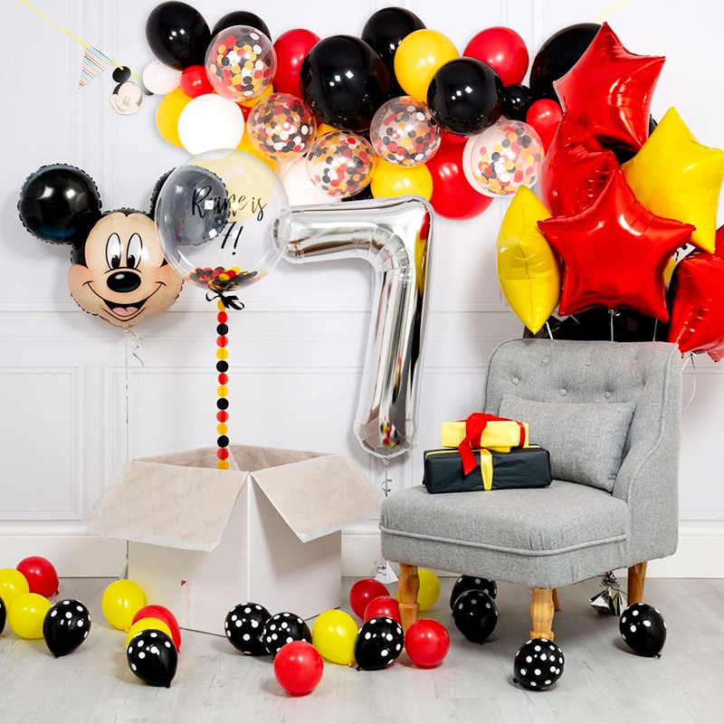 Mickey Minnie Mouse Foil Balloons Cartoon Birthday Party Decorations Helium Balloon For Kids Birthday Party Decor Classic Toys