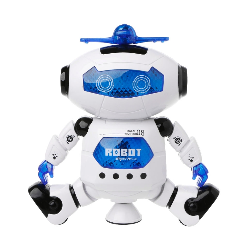 2018 new Electronic Walking Dancing Robot Toys With Music Lightening For Kids