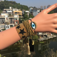 ZHONGVI Gold Pulseras Delica MIYUKI Bracelet Jewelry Evil Eye 2019 Women Turkish Bileklik Crystal Tassel