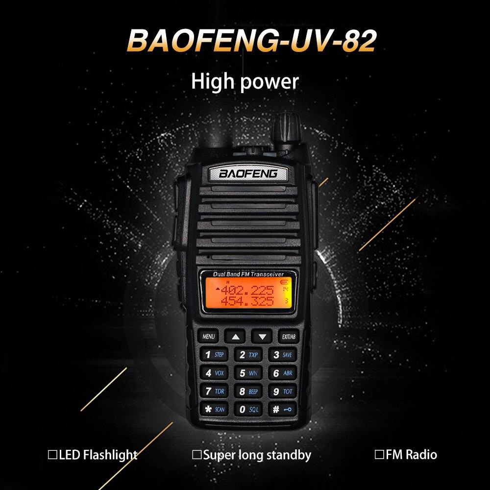 Baofeng UV-82 Walkie Talkie 8W High Power UV82 Portable Ham CB Radio Station UV82 Dual PTT VHF UHF Transceiver 10KM Two Way Radi