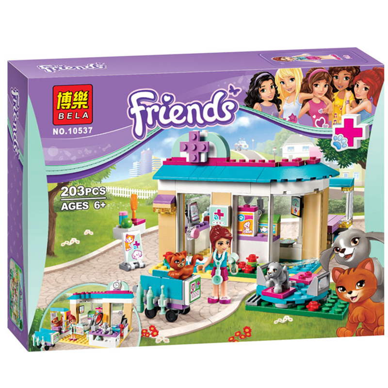 Vet Clinic 203pcs Friends Series Set Emma Stephanie Mia Olivia Andrea Building Block Toy Girls 41085 Compatible With