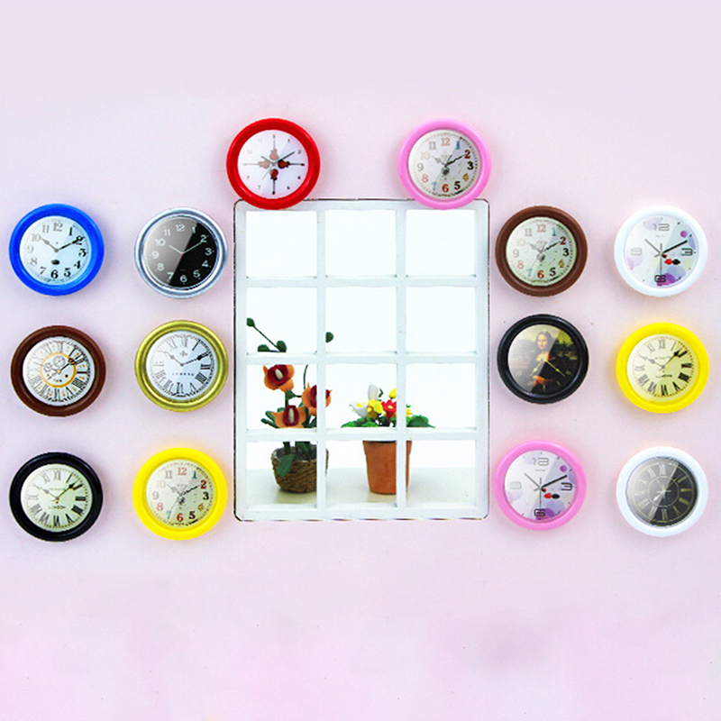 <font><b>1:12</b></font> Scale Resin <font><b>Dollhouse</b></font> Miniature Wall Clock Play Doll House <font><b>Miniaturas</b></font> Home Decor Accessories Toy Pretend Play Furniture Toy image