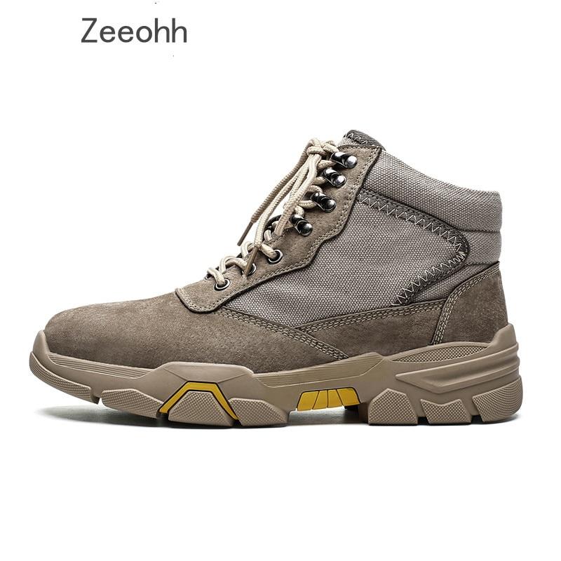 Outdoor Men Hiking Shoes Waterproof Breathable Plus Fur Tactical Combat Army Boots Desert Training Sneakers Anti Slip Trekking S
