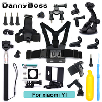 For Xiaomi Yi Accessories Set Waterproof Case Protective Border Frame Chest Belt Mount Monopod For Xiao yi sport Camera