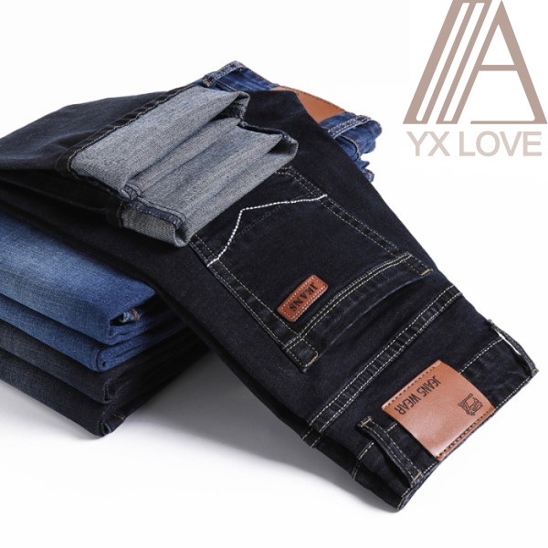 2020 New Fashion Jeans Mens Pants Cotton Deniem Classic Trousers Casual Stretch Slim High Quality Black Blue Multiple Styles