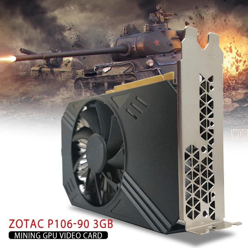 Original 2020 For ZOTAC P106-90 3GB Mining GPU Video Card GTX 1060 GDDR5 PCI Express 3.0 6-Pin PCI-E PCI Express 2.0 x16