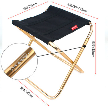 New folding stool large 7075 aluminum alloy outdoor portable barbecue fishing folding chair mazza train stool folding portable outdoor fishing chair backpack playing climbing outdoor portable folding stool backpack high quality