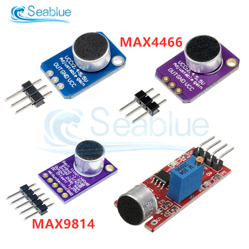 1Pcs MAX9814 Electret Microphone AGC Amplifier Module Auto Gain Control 4 Pin Sound Sensor Module Replace MAX4466 For Arduino image