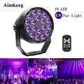 Aimkeeg 18 светодиодный УФ-светильник, профессиональный сценический светильник, диско-DJ проектор, вечерние машины с беспроводным пультом диста...