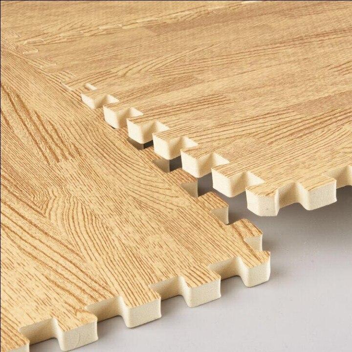 16PCS Imitation Wood Grain Mosaic Mat EVA Foam Puzzle Mats Baby Floor Puzzles Play Mat For Children Baby Crawling Rugs