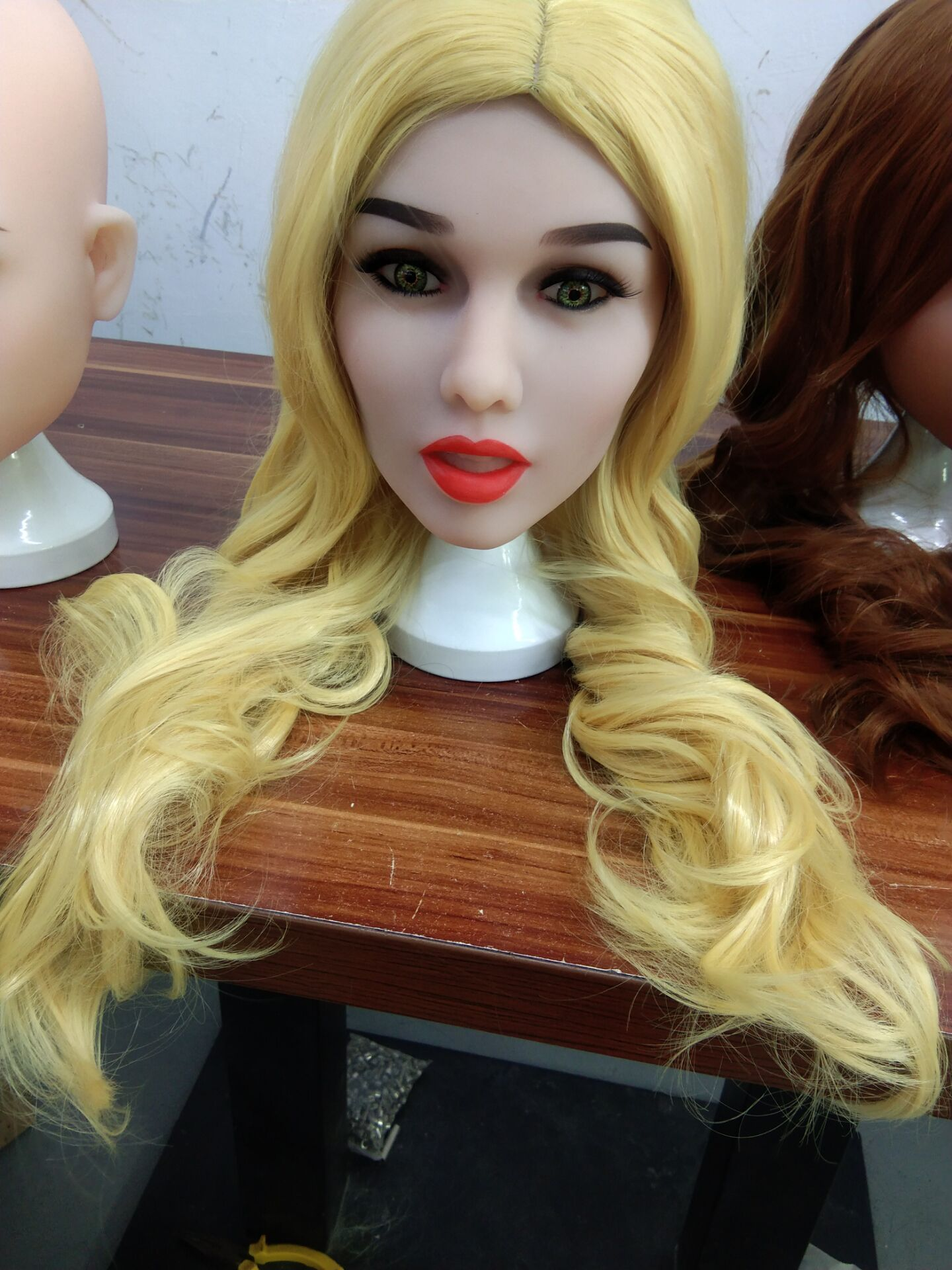 Real <font><b>sex</b></font> <font><b>dolls</b></font> head Long blond pretty girl for 135cm to <font><b>176cm</b></font> big breasts/flat chest/small breasrs pregnant fat ass <font><b>doll</b></font> image