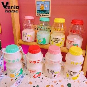 480ml Fruit Plastic Water Bottle BPA Free Portable Water Bottles Cute Leak Proof Travel Drinking Bottle Shaker For Girl Kids Cup